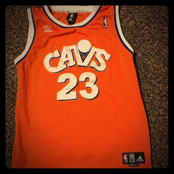 b3c2700956f adidas Other - LeBron James orange throwback stitched jersey